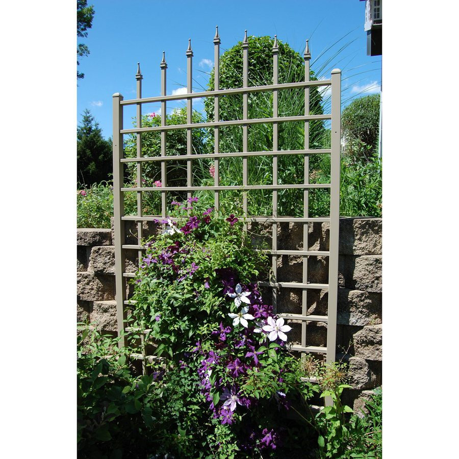 Dura-Trel 57-in W x 96-in H Brown Traditional Garden Trellis