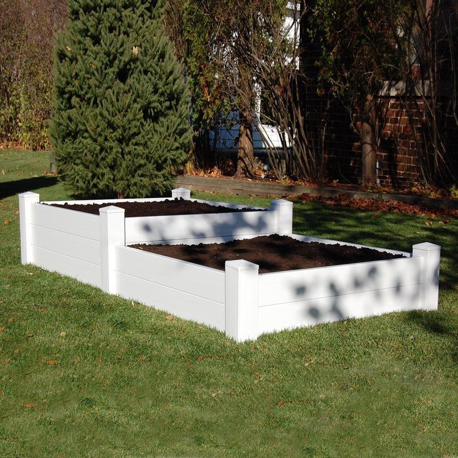 Dura-Trel 93-in W x 48-in L x 19-in H White Raised Garden Bed
