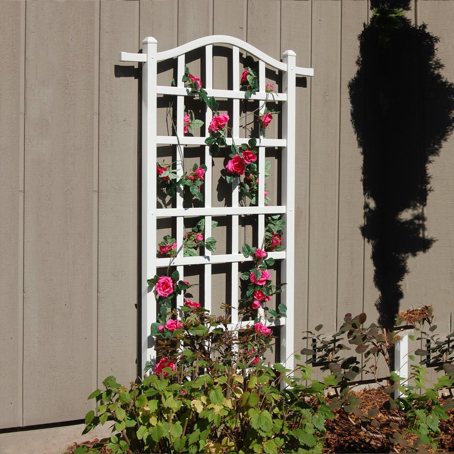 Shop Dura Trel 35 in W x 75 in H White Traditional Garden Trellis at
