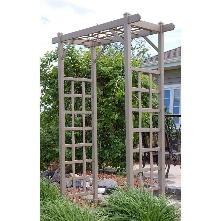 Dura-Trel 57-in W x 85-in H Brown Garden Arbor
