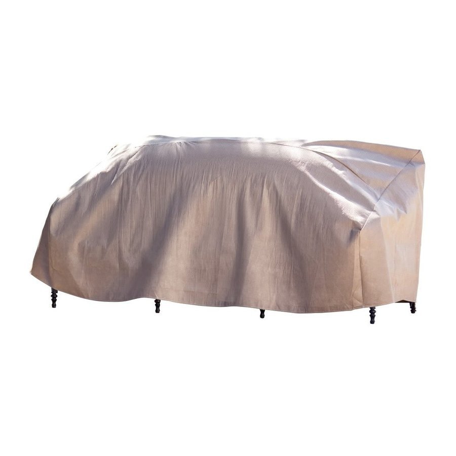 Duck Covers Cappuccino Polypropylene Loveseat Cover