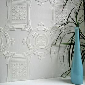 Brewster Wallcovering Anaglypta X 57 Sq Ft Paintable Vinyl Tile Wallpaper