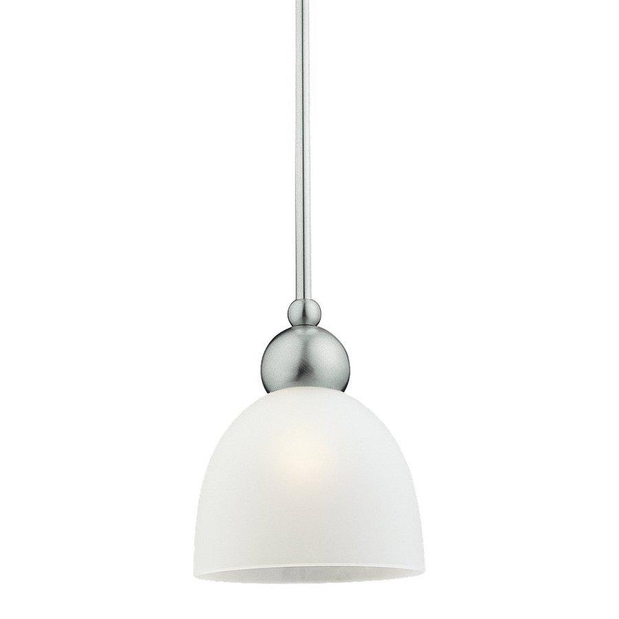 Sea Gull Lighting Metropolis 6.5-in Brushed Nickel Mini Bell Pendant