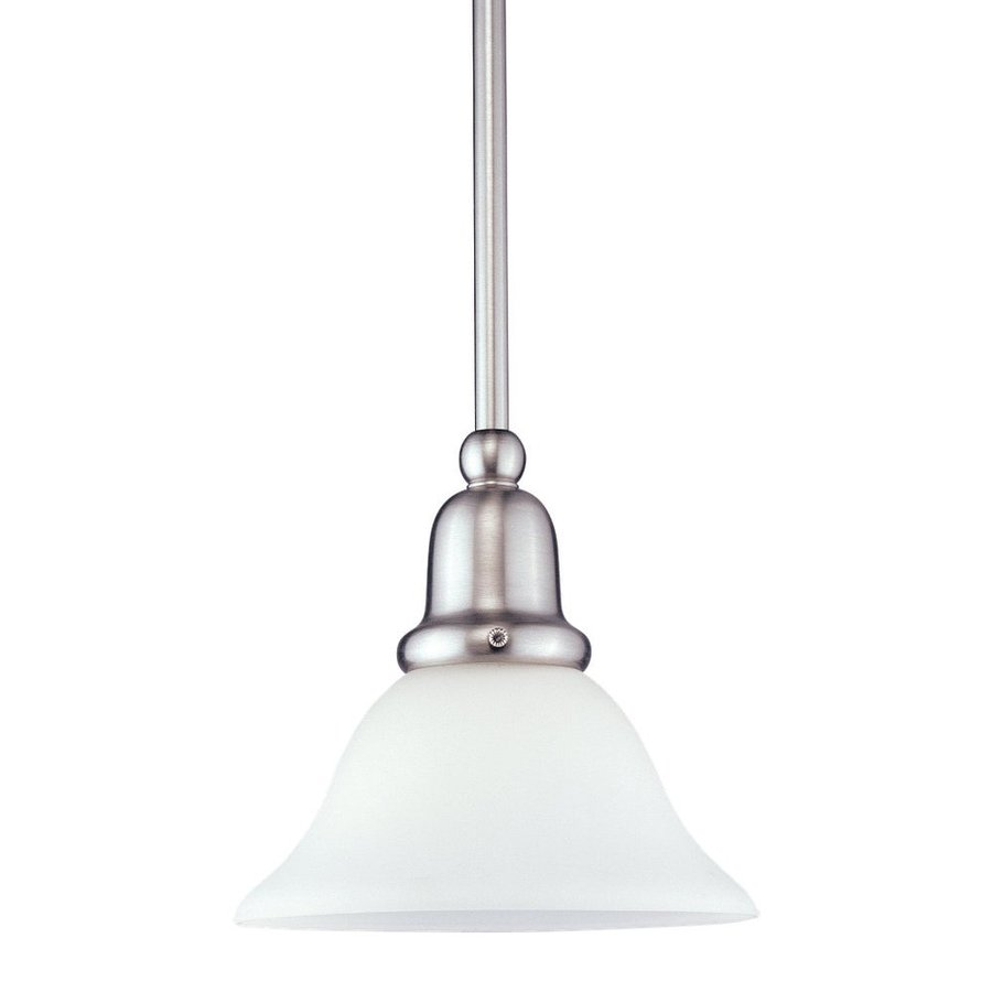 Sea Gull Lighting Sussex 7.5-in Brushed Nickel Mini Bell Pendant