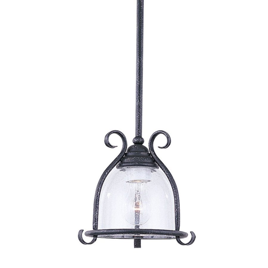 Sea Gull Lighting Manor House 9 In Weathered Iron Wrought Mini Seeded Gl Bell