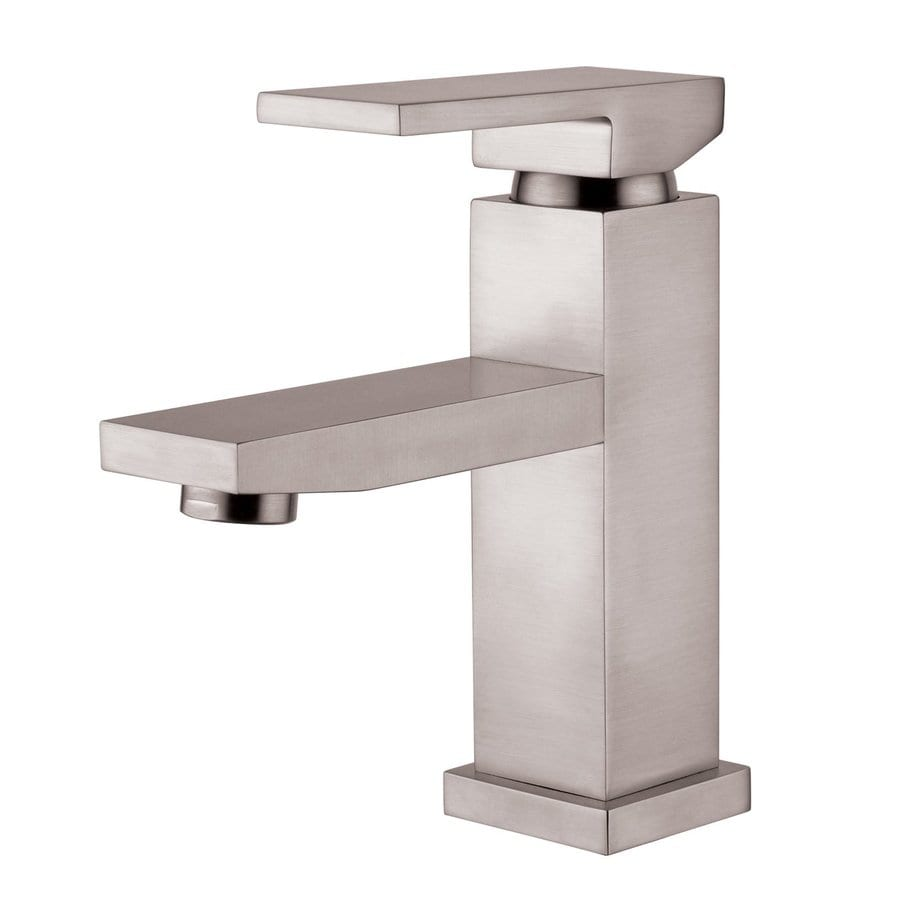 Yosemite Home Decor Brushed Nickel 1-Handle Single Hole WaterSense Bathroom Faucet