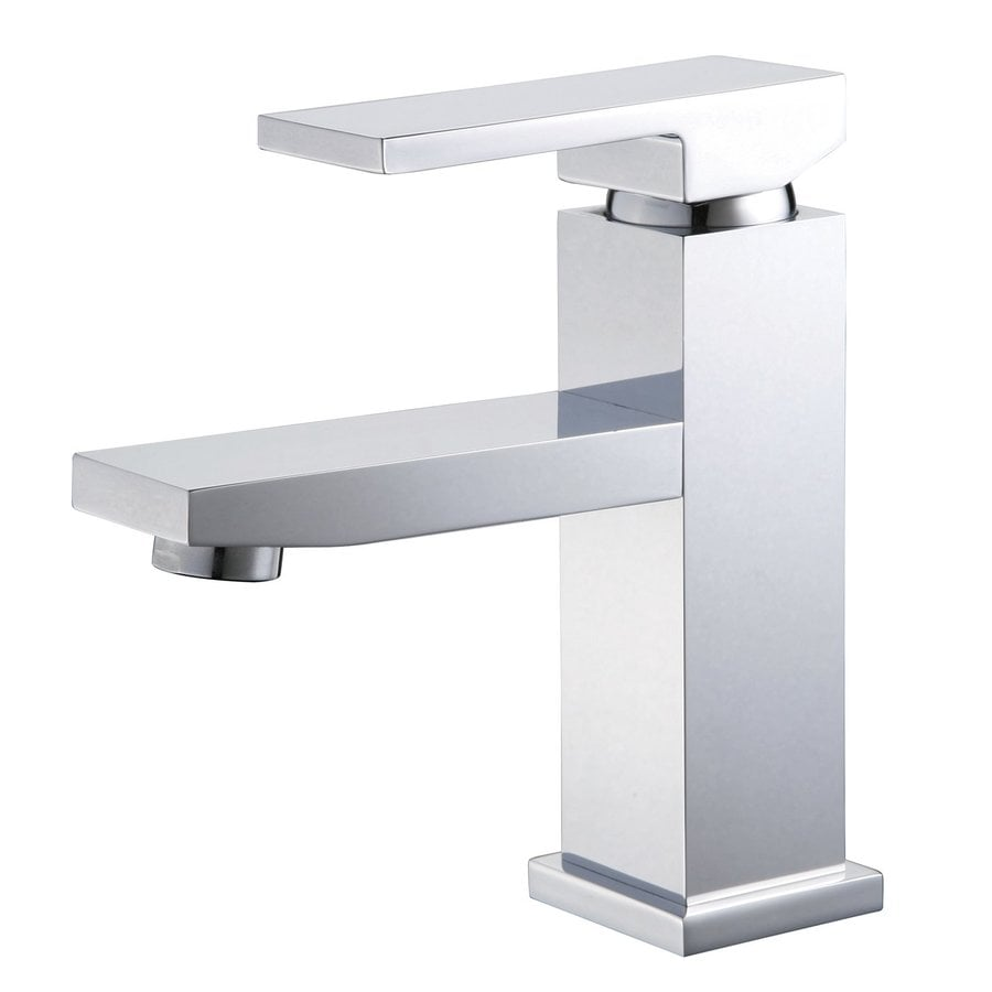 Yosemite Home Decor Polished Chrome 1-Handle Single Hole WaterSense Bathroom Faucet