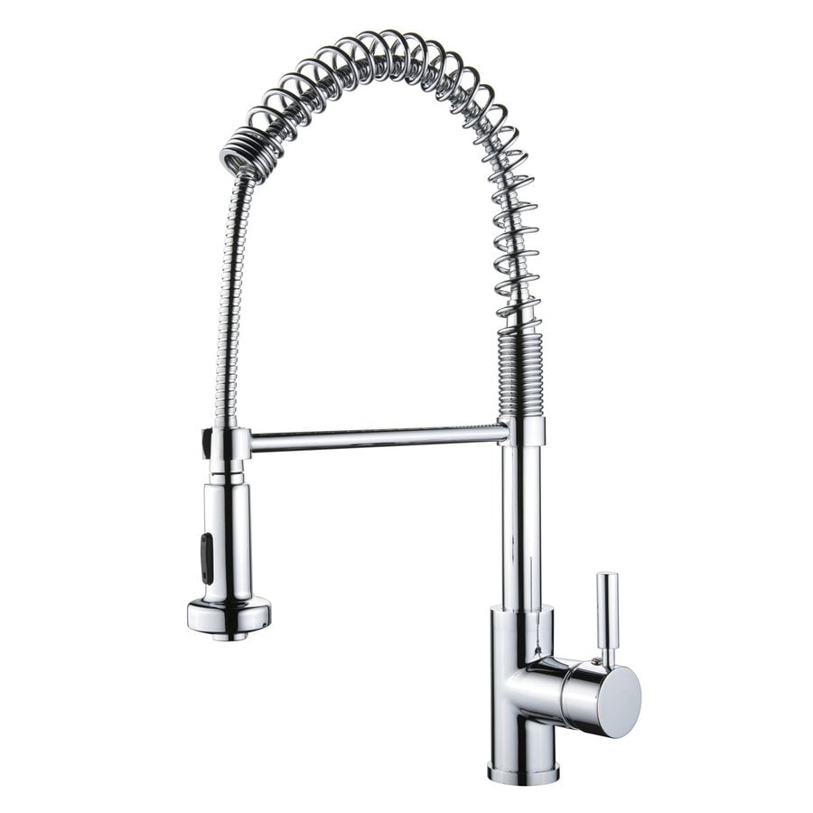 Yosemite Home Decor Polished Chrome 1-Handle Pull-Out Kitchen Faucet