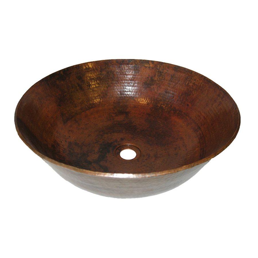 Novatto Catalonia Copper Copper Vessel Round Bathroom Sink