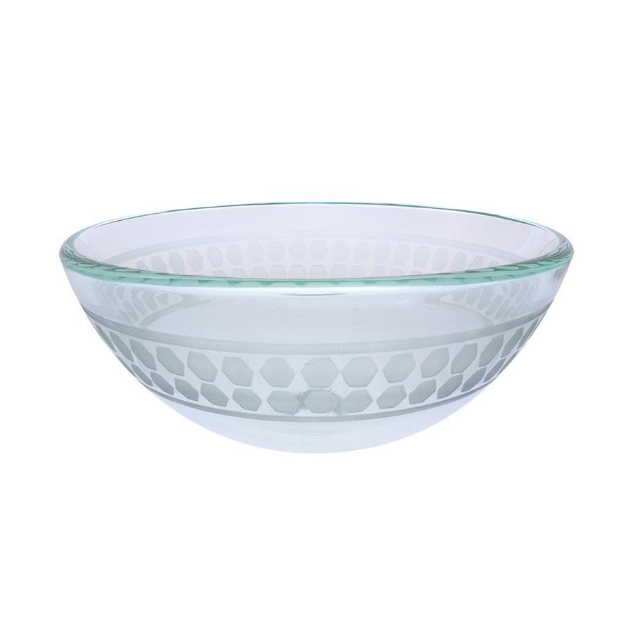 Shop Novatto Imponeren Clear Tempered Glass Vessel Round Bathroom Sink At