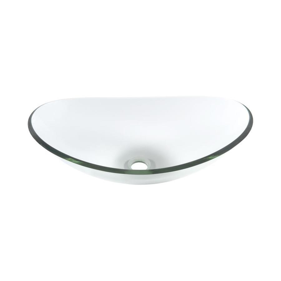 Novatto Chiaro Clear Tempered Glass Vessel Oval Bathroom Sink