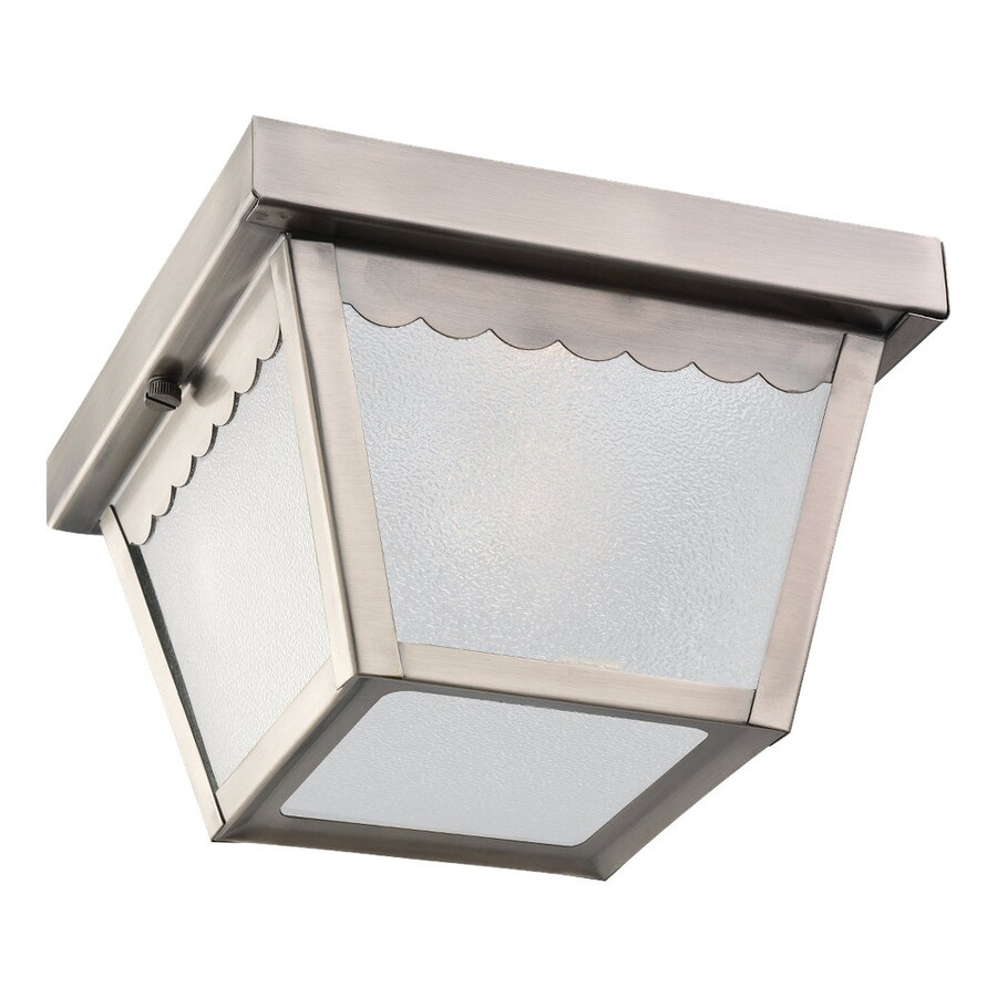 Sea Gull Lighting 7.5-in W Antique Brushed Nickel Outdoor Flush-Mount Light