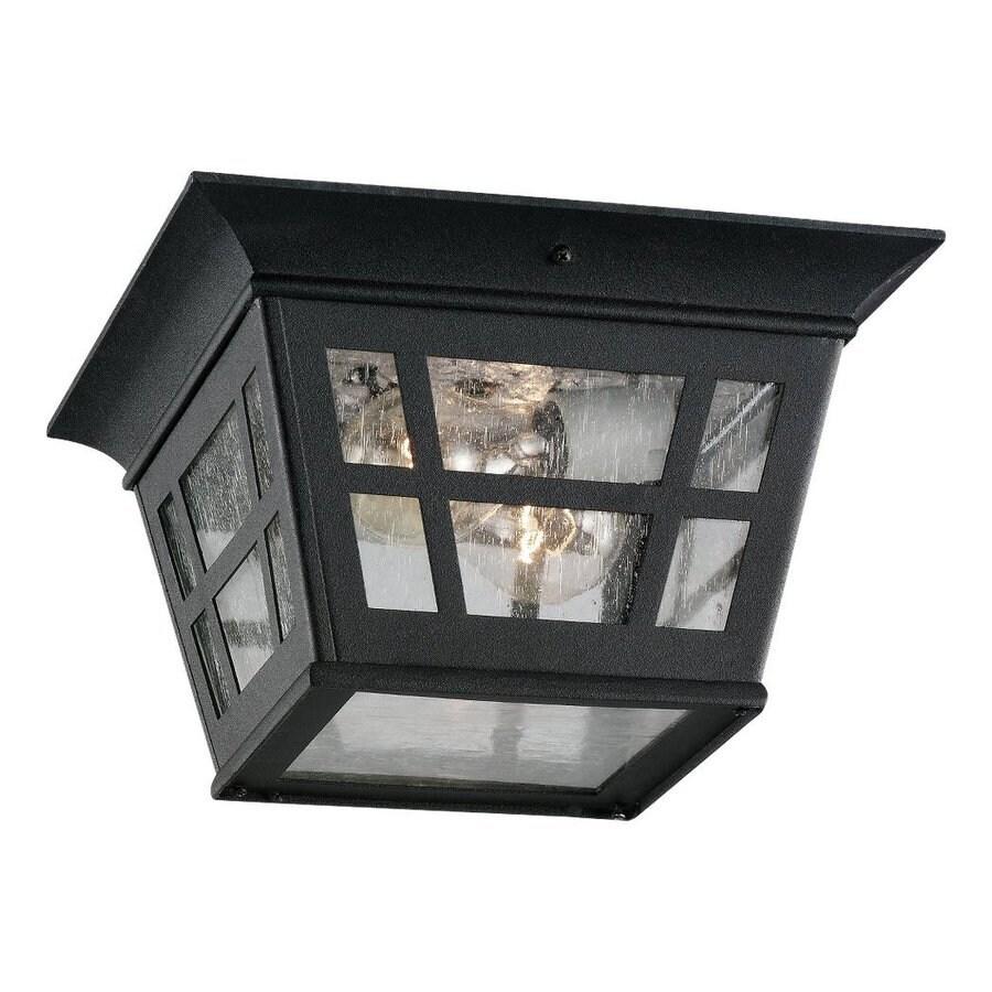 Shop sea gull lighting herrington 1075 in w black outdoor flush sea gull lighting herrington 1075 in w black outdoor flush mount light aloadofball Images