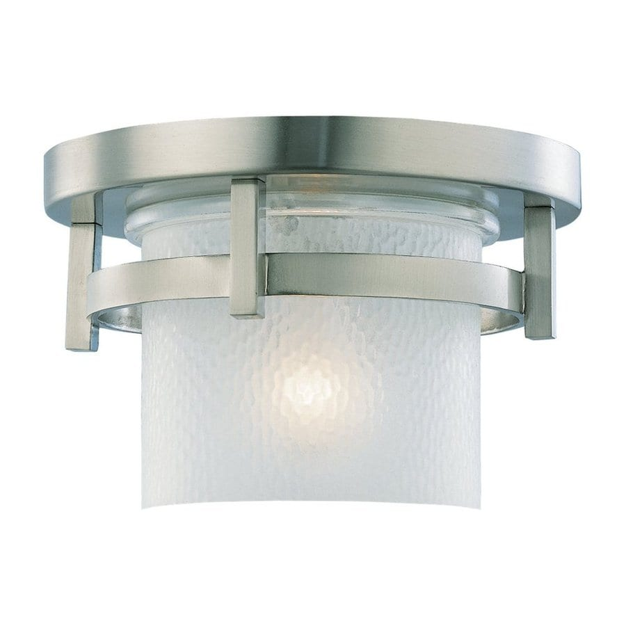 Sea Gull Lighting Eternity 10-in W Brushed Nickel Outdoor Flush-Mount Light