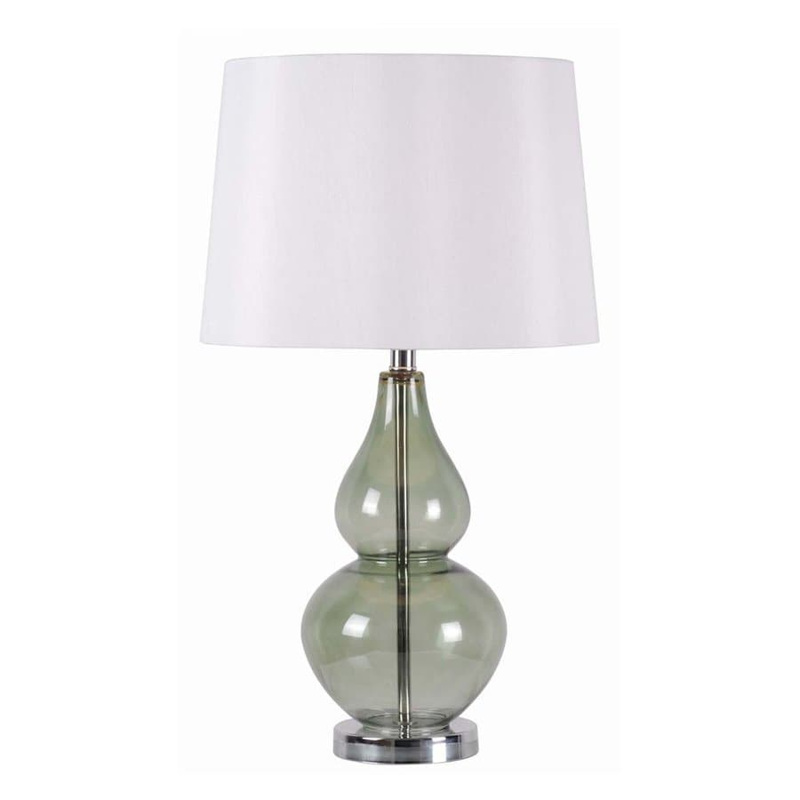 Kenroy Home Mccauley 27-in 3-Way Earthen Spruce Table Lamp with Fabric Shade