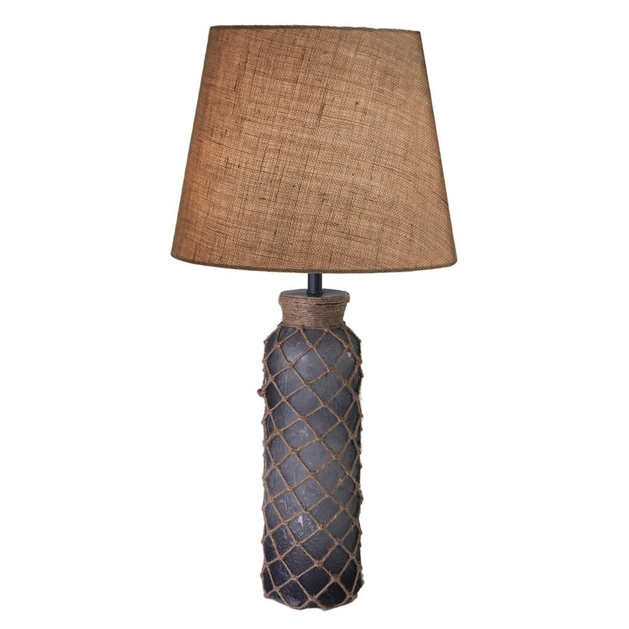 Kenroy Home Bates 29-in 3-Way Aged Blue Table Lamp with Fabric Shade