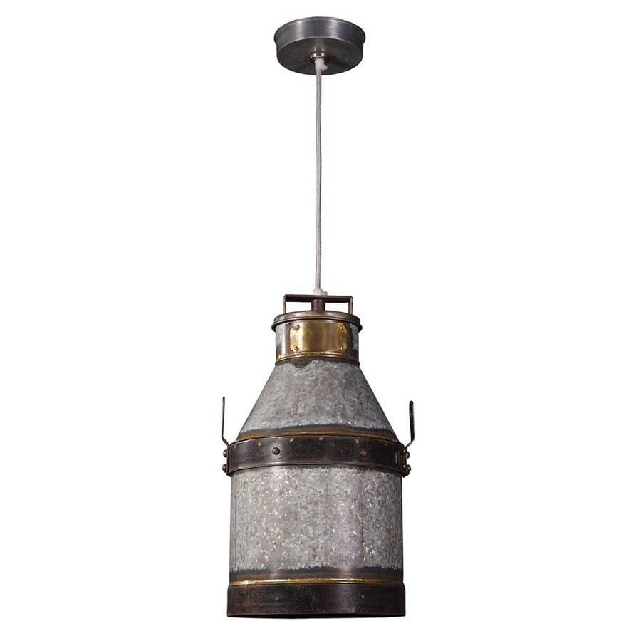 Kenroy Home Cudahy Galvanized Iron Transitional Pendant At