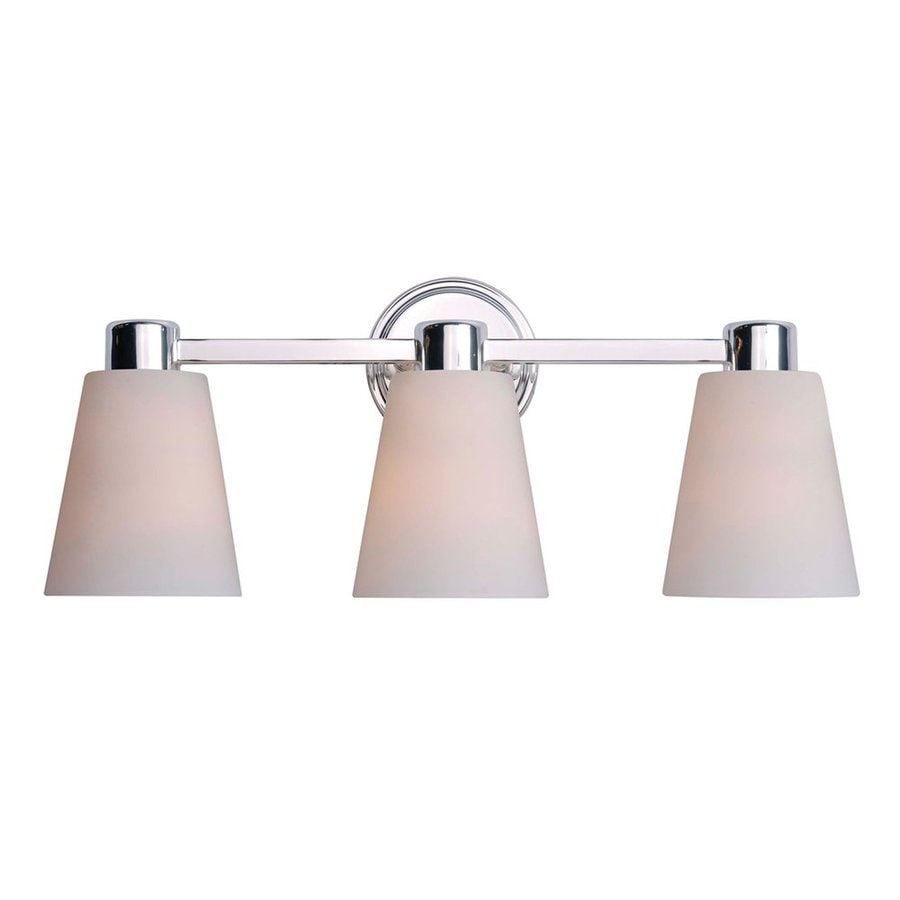 Kenroy Home Scarsdale 3-Light 8-in Polished Nickel Cone Vanity Light