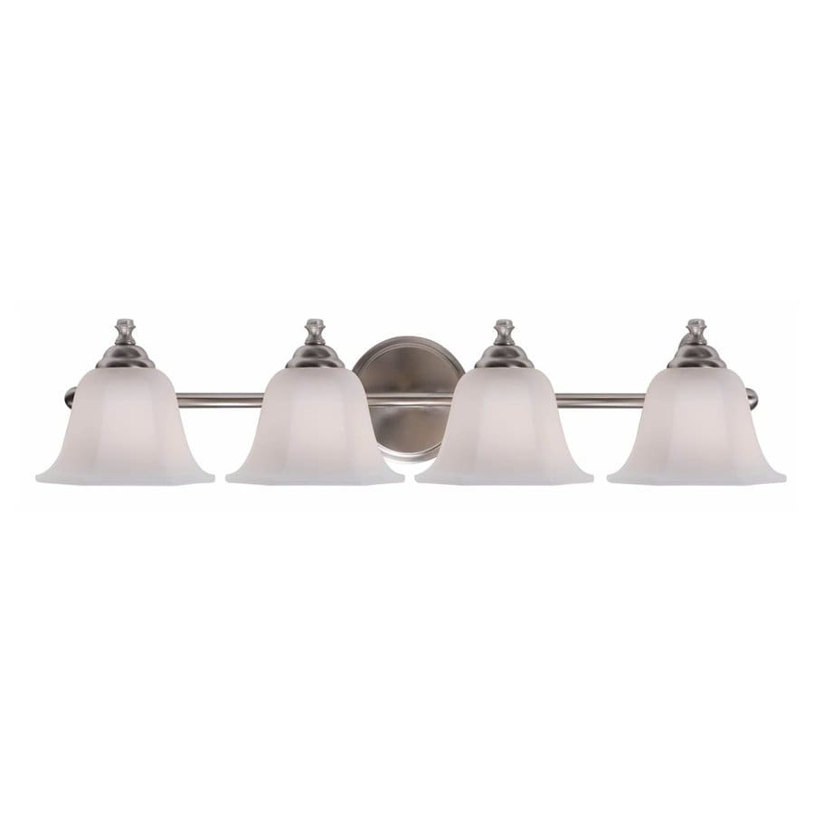 Kenroy Home Woodhill 4-Light Brushed Steel Bell Vanity Light