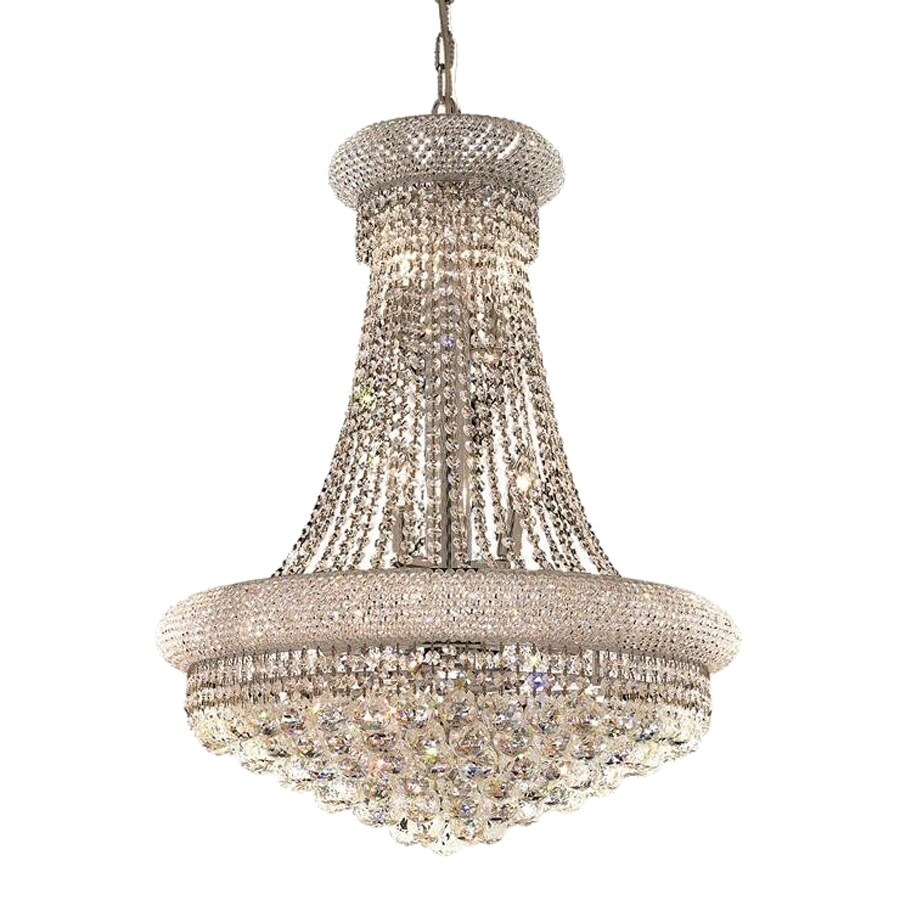 Shop elegant lighting primo 24 in 14 light chrome crystal crystal elegant lighting primo 24 in 14 light chrome crystal crystal empire chandelier mozeypictures Image collections