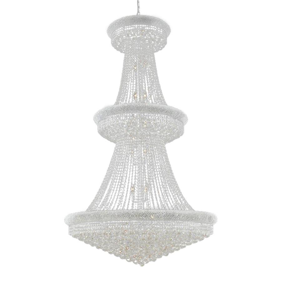Elegant Lighting Primo 42-in 38-Light Chrome Crystal Crystal Empire Chandelier