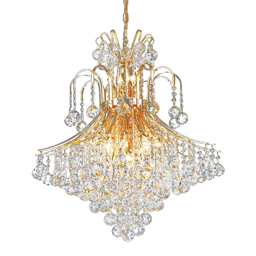 Elegant Lighting Toureg 25-in 15-Light Gold Crystal Crystal Draped Chandelier