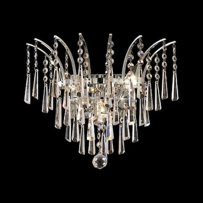 Elegant Lighting Victoria 16 In W 1 Light Chrome Crystal