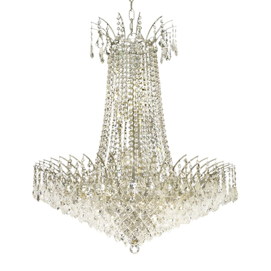 Elegant Lighting Victoria 29-in 16-Light Chrome Crystal Crystal Empire Chandelier