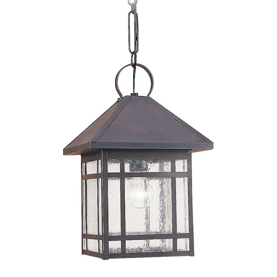 Sea Gull Lighting Largo 17-in Antique Bronze Outdoor Pendant Light