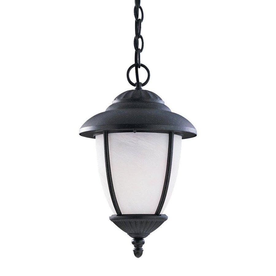Sea Gull Lighting Yorktowne 17-in Forged Iron Hardwired Outdoor Pendant Light