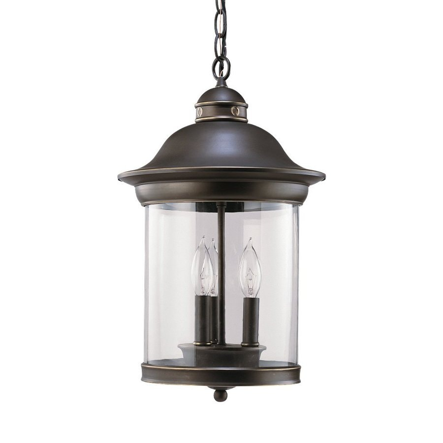 Outdoor Hanging Lanterns Lowes: Sea Gull Lighting Hermitage Antique Bronze Transitional