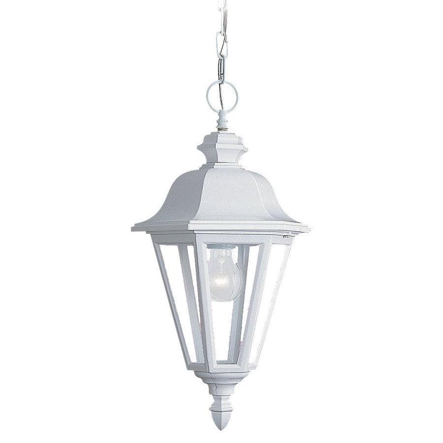 Sea Gull Lighting Brentwood 18.75-in White Outdoor Pendant Light
