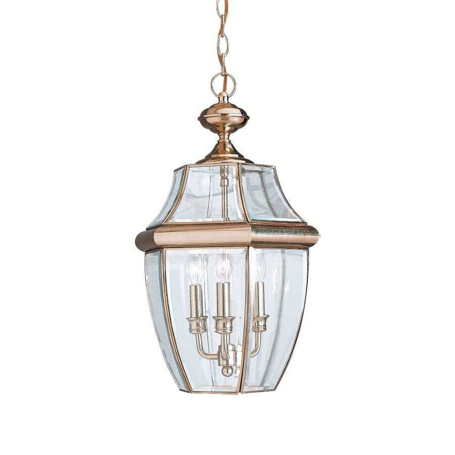 Sea Gull Lighting Lancaster 20.75-in Polished Brass Outdoor Pendant Light