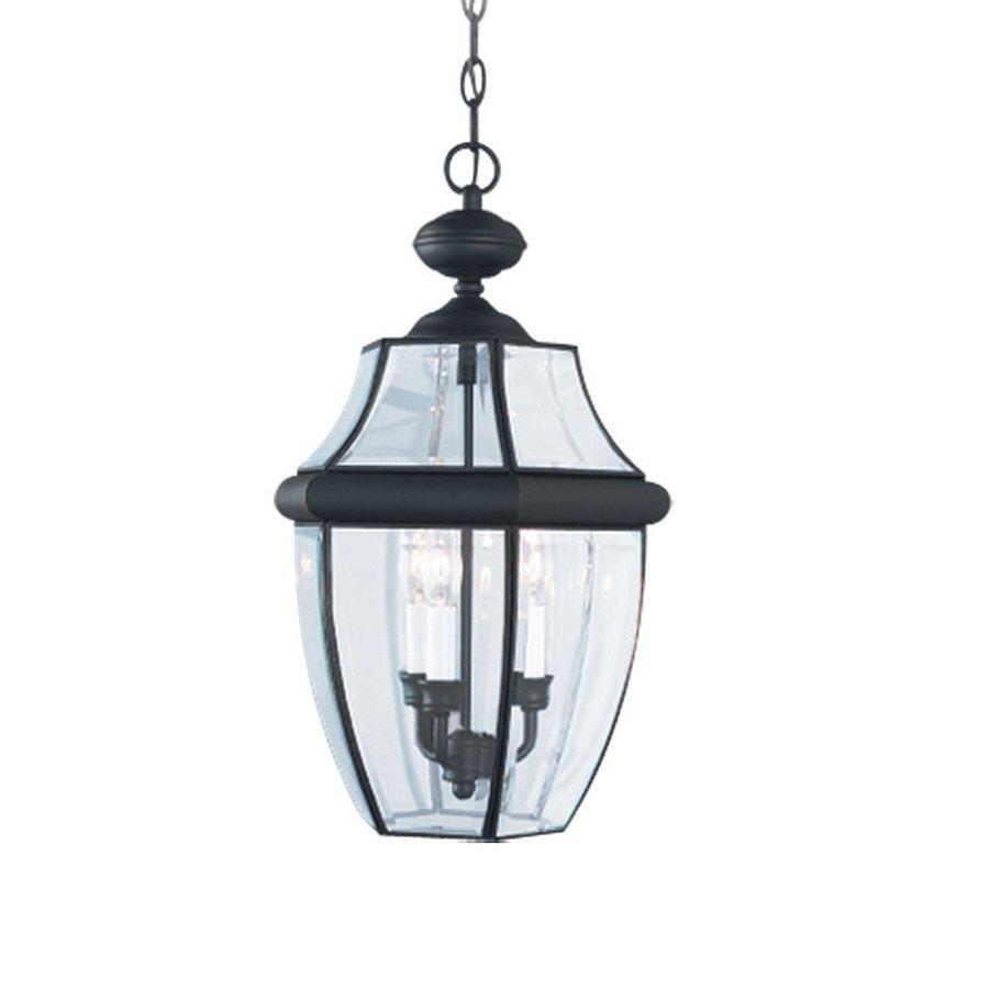 Sea Gull Lighting Lancaster 20.75-in Black Outdoor Pendant Light