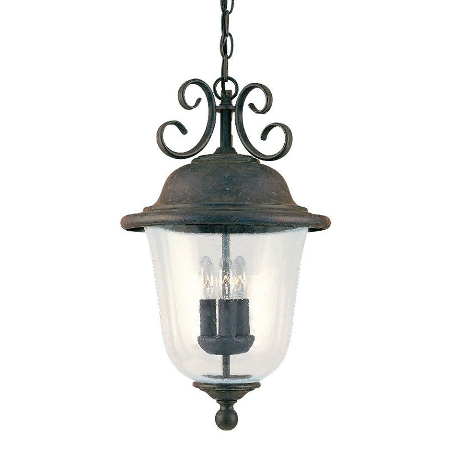 Sea Gull Lighting Trafalgar 20.75-in Oxidized Bronze Outdoor Pendant Light