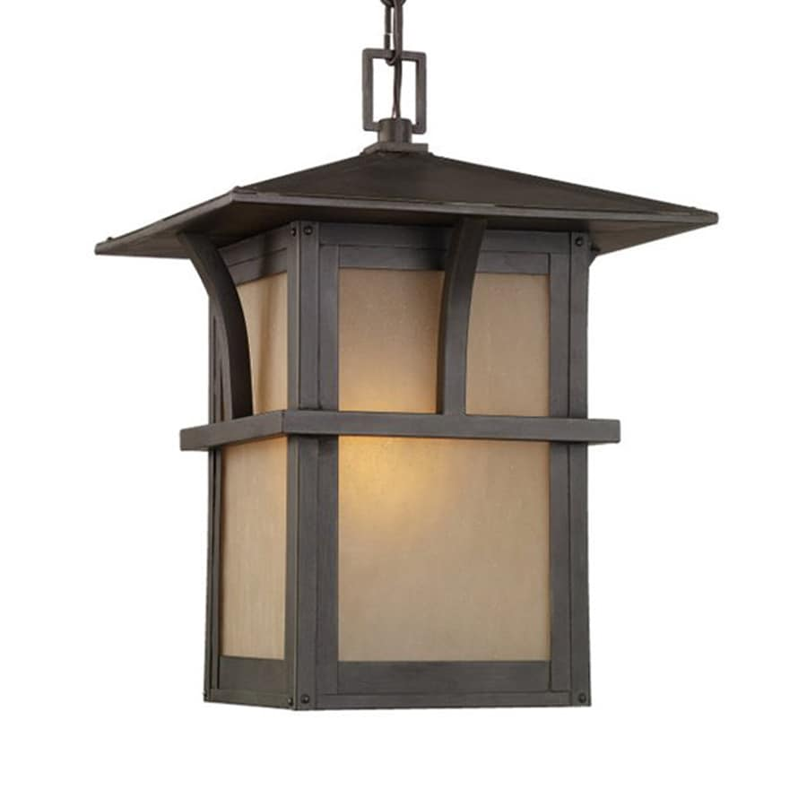 Sea Gull Lighting Medford Lakes 14.75-in Statuary Bronze Hardwired Outdoor Pendant Light