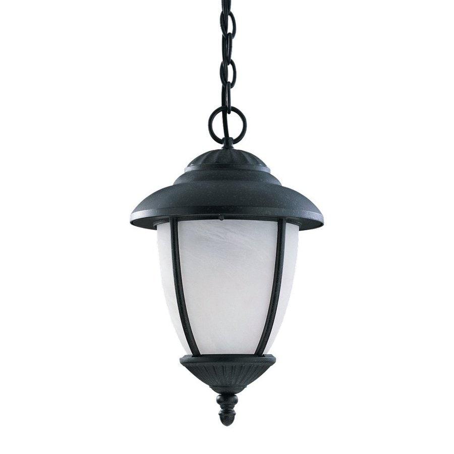 Sea Gull Lighting Yorktown 17-in Black Hardwired Outdoor Pendant Light ENERGY STAR