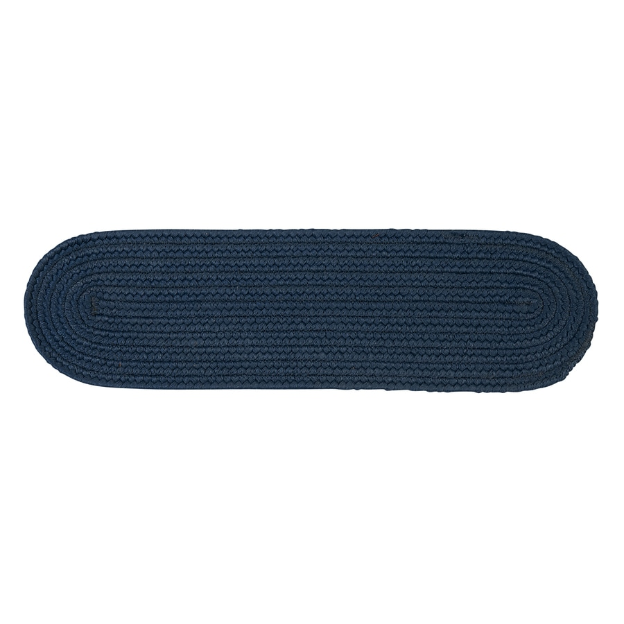Colonial Mills Blue Oval Stair Tread Mat (Common: 8-in x 28-in; Actual: 8-in x 28-in)