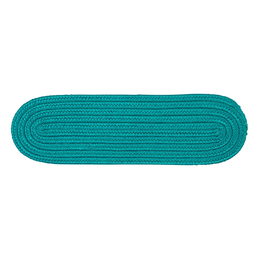 Colonial Mills 8-in x 28-in Boca Raton Turquoise Olefin/Polypropylene Indoor/Outdoor Stair Tread Mat (Set of 13)