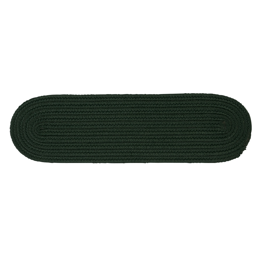 Colonial Mills Green Oval Stair Tread Mat (Common: 8-in x 28-in; Actual: 8-in x 28-in)