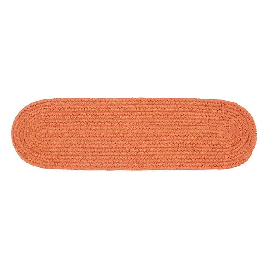 Colonial Mills Orange Oval Stair Tread Mat (Common: 1/2-ft x 2-1/4-ft; Actual: 8-in x 28-in)