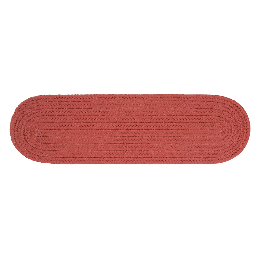 Colonial Mills Red Oval Stair Tread Mat (Common: 1/2-ft x 2-1/4-ft; Actual: 8-in x 28-in)