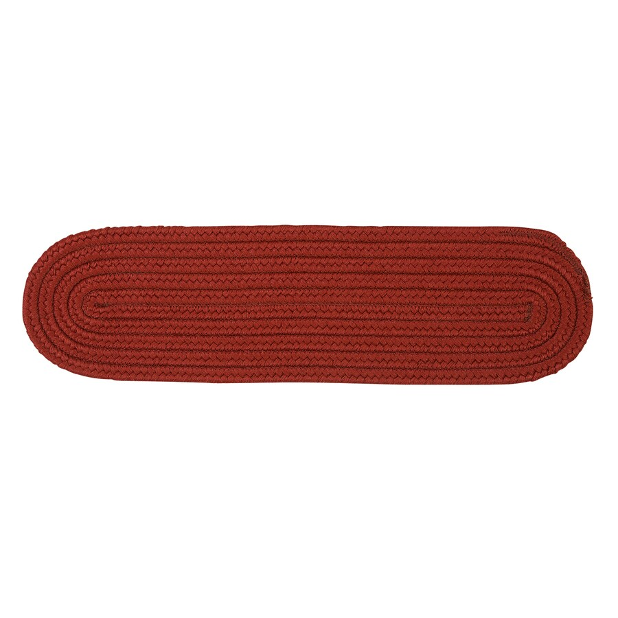Colonial Mills Brick 13-Pack Oval Stair Tread Mat (Common: 8-in x 28-in; Actual: 8-in x 28-in)