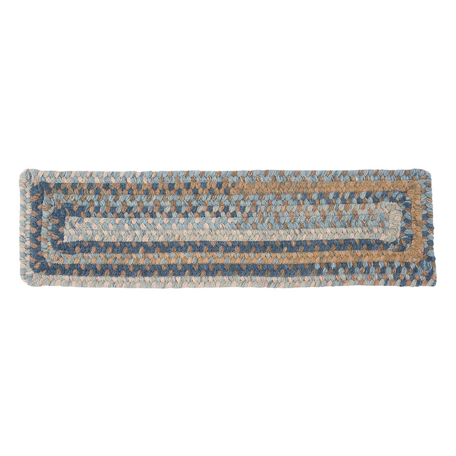 Colonial Mills Laguna 13-Pack Rectangular Stair Tread Mat (Common: 8-in x 28-in; Actual: 8-in x 28-in)