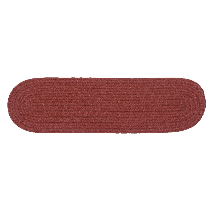Colonial Mills Red Oval Stair Tread Mat (Common: 8-in x 28-in; Actual: 8-in x 28-in)