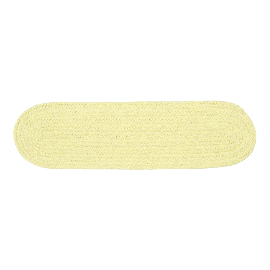 Colonial Mills Yellow Oval Stair Tread Mat (Common: 8-in x 28-in; Actual: 8-in x 28-in)