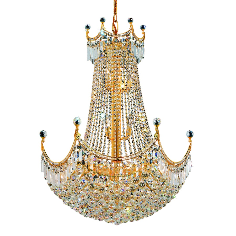 Shop elegant lighting corona 24 light gold crystal chandelier at elegant lighting corona 24 light gold crystal chandelier aloadofball Gallery