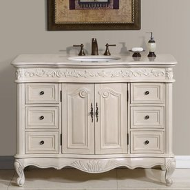 silkroad exclusive ella brown undermount single sink bathroom vanity with natural marble top common