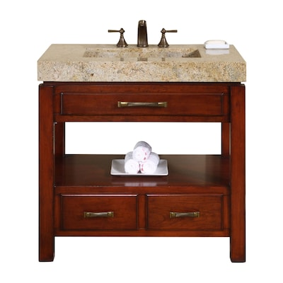 Natural Cherry Integral Single Sink