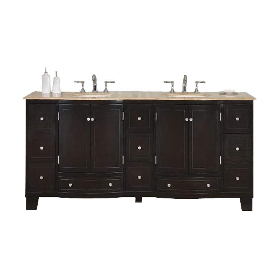 Three Posts Rosado 72 Double Bathroom Vanity Set with